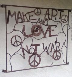 Make art and love not war