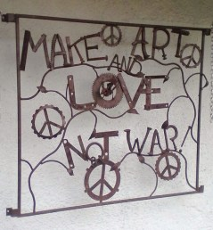 Make art and love not war