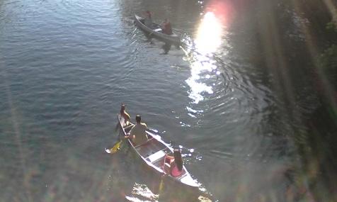 Canoers near Zilker Park.