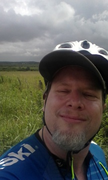 A Dude Abikes, unphotogenic but happy