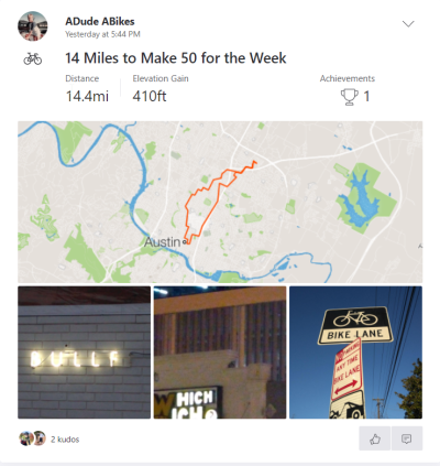 14 Miles to Make 50 for the Week