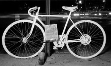 white ghost bike