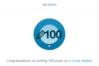 100th Post on A Dude Abikes