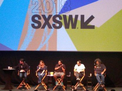 Panel of comedians.