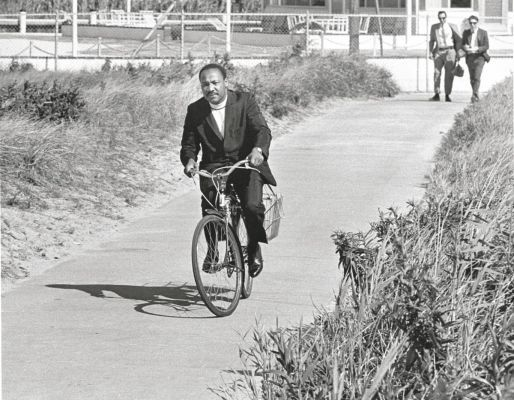 Dr King on a bike