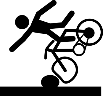 bike image falling