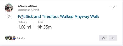 felt tired walk