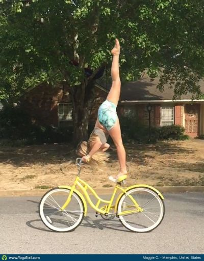 yoga on bike
