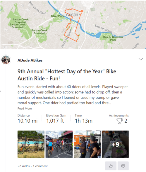 080418 Bike Austin Hottest Day of the Year rie