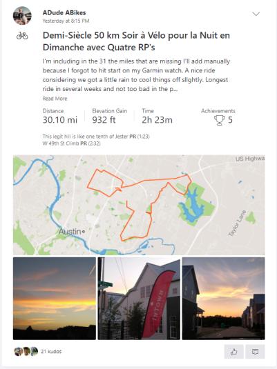 080518 Half Kilometric Century 50 km
