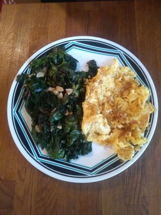 Kale, eggs, garlic, a nice cheese.