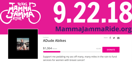 Mamma Jamma fundraising as of 092118