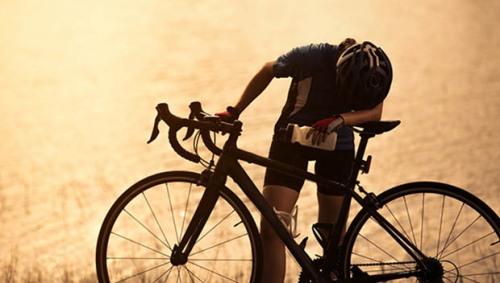 tired cyclist-carousel