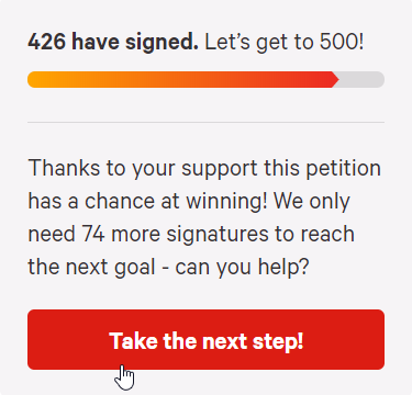 Change.org petition